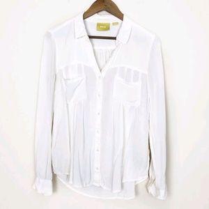 3/$30 Anthropologie White Button Down Shirt 450